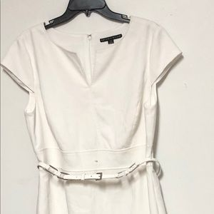 Antonio Melani White Sheath Dress Sz 14